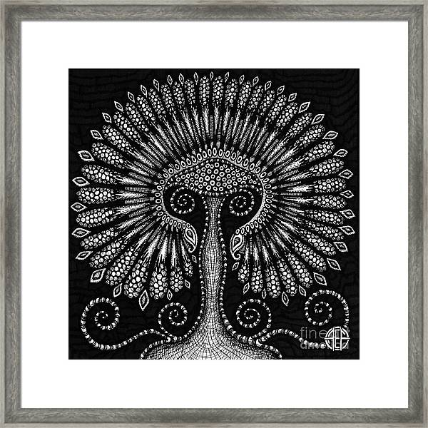 Framed Print featuring the drawing Botanical Bioform 6 by Amy E Fraser