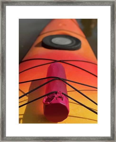 Bottle On A Boat Framed Print