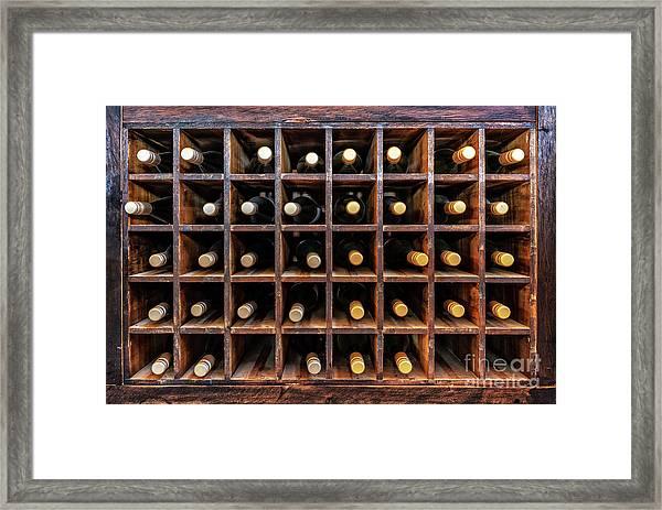 Bottles Of Wine Framed Print
