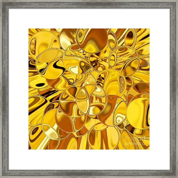 Framed Print featuring the digital art Boules D Or by A zakaria Mami