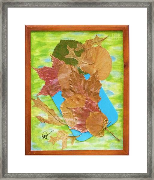 Bouquet From Fallen Leaves Framed Print