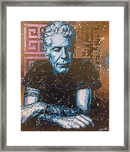 Bourdain - The Parts Unknown Framed Print by Bobby Zeik