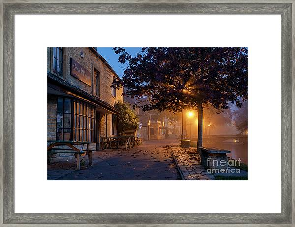 Bourton On The Water October Morning Framed Print by Tim Gainey