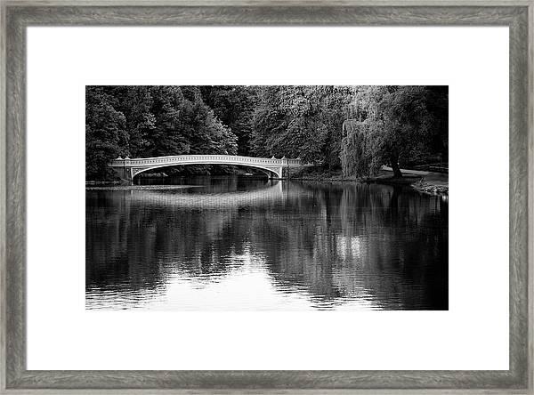Bow Bridge In Central Park Framed Print