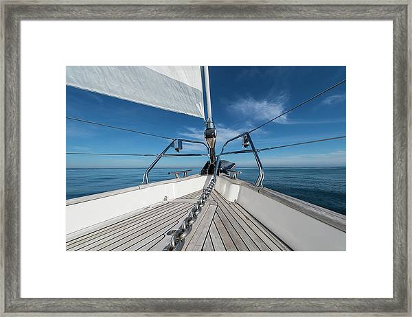 Bow Of 62 Ft Sailboat Framed Print