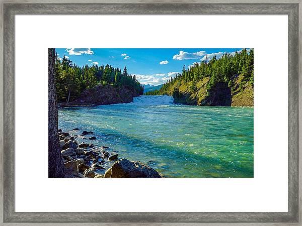 Bow River In Banff Framed Print