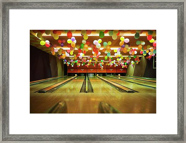 Bowling Framed Print by Olive