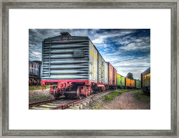 Box Cars Framed Print by G Wigler