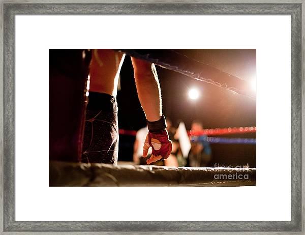Boxing Match Framed Print