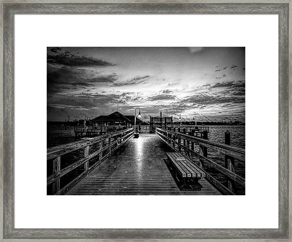 Bradenton Beach City Pier Framed Print