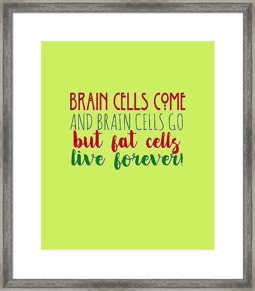 Brain Cells Framed Print