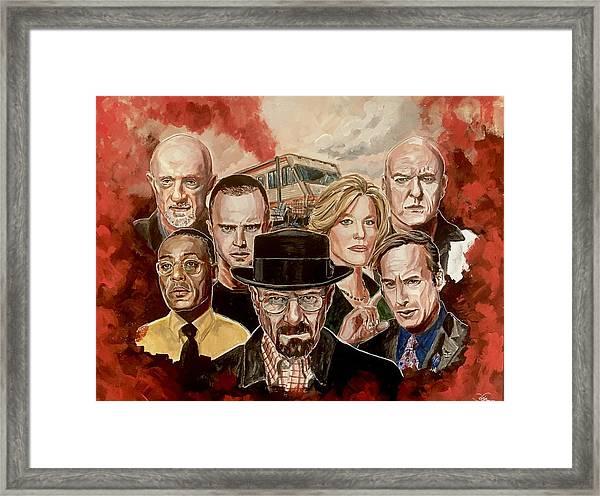 Breaking Bad Family Portrait Framed Print