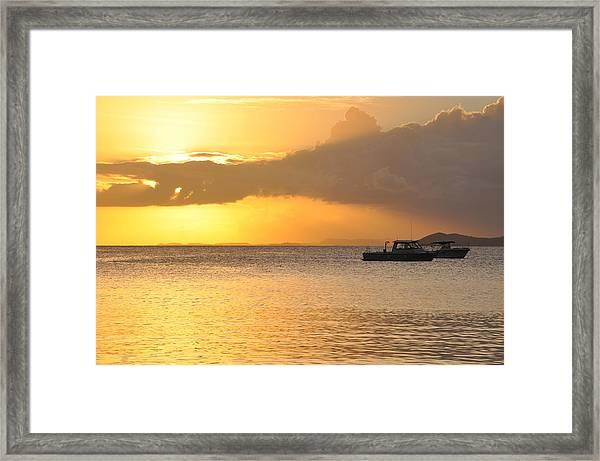 Brewers Bay Sundown Framed Print