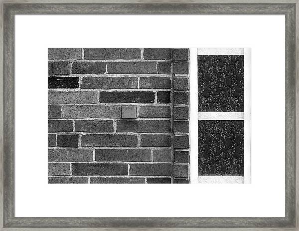 Brick And Glass - 2 Framed Print