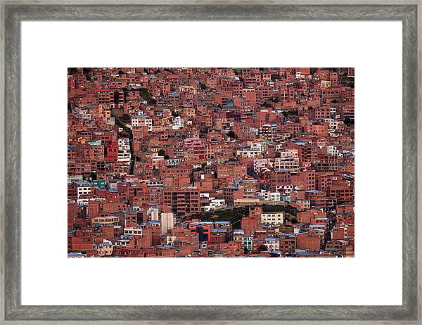 Brick Housing On A Steep Hillside, La Framed Print