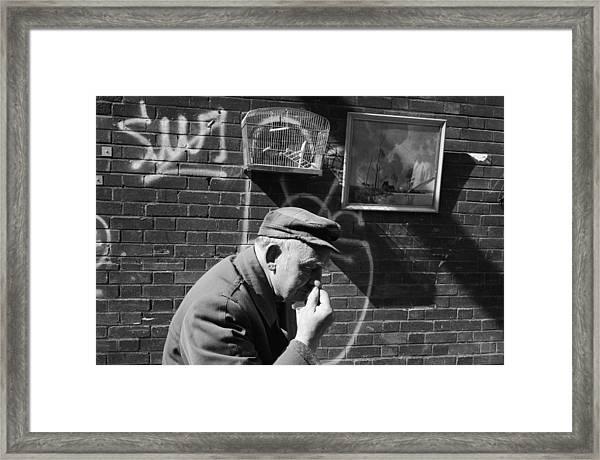 Brick Lane Scene Framed Print