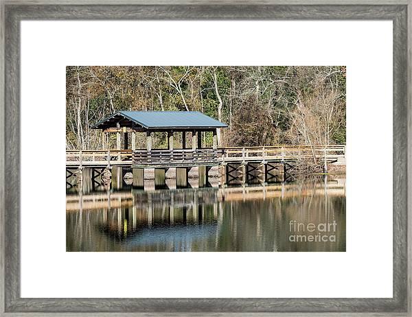 Brick Pond Park - North Augusta Sc Framed Print
