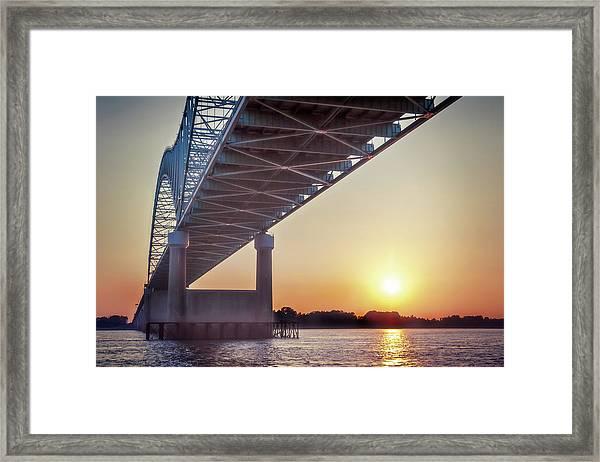 Bridge Over Mississippi River Framed Print