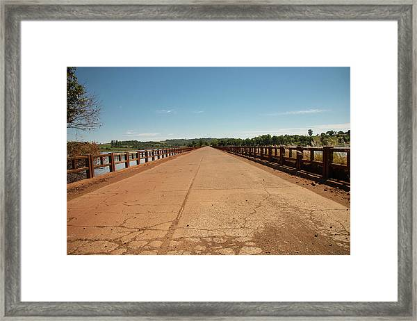 Bridge Over The  Ijuí River Framed Print