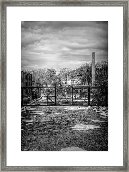 Bridge Over The Sugar River Framed Print