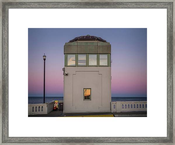 Framed Print featuring the photograph Bridge Tender's Tower by Steve Stanger