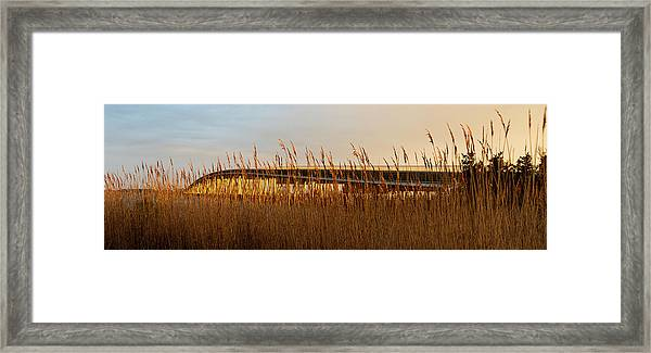 Framed Print featuring the photograph Bridge To Assateague Island National Seashore by William Dickman
