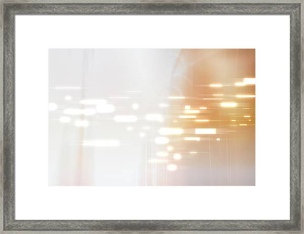 Bright Lights Abstract Framed Print