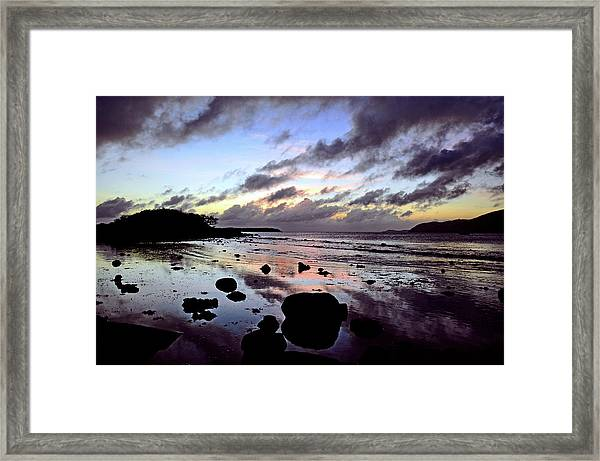 Bright Mirror Of Sunset Light Framed Print