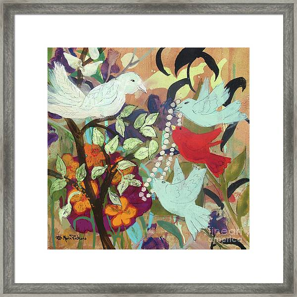 Bringin' Momma Beads Framed Print
