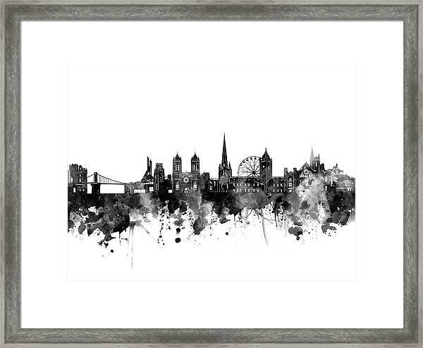 Bristol Skyline Bw Framed Print
