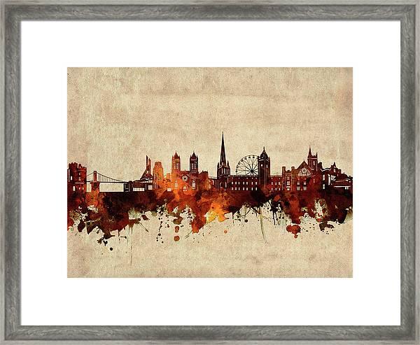 Bristol Skyline Sepia Framed Print