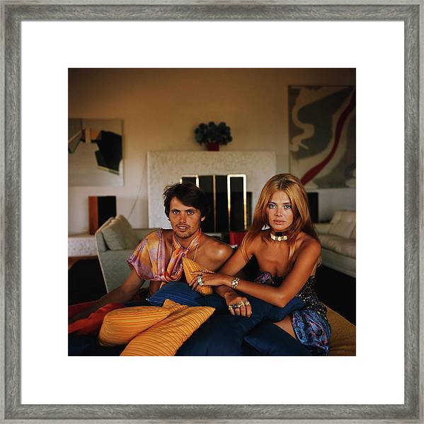 Britt And Her Brother Framed Print