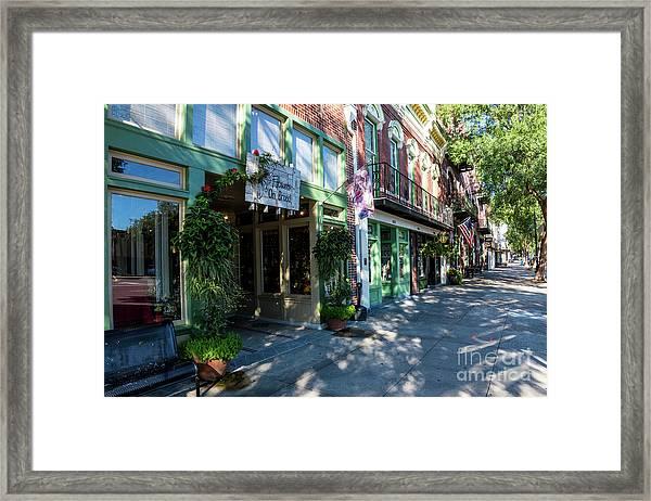 Broad Street Downtown Augusta Ga Framed Print
