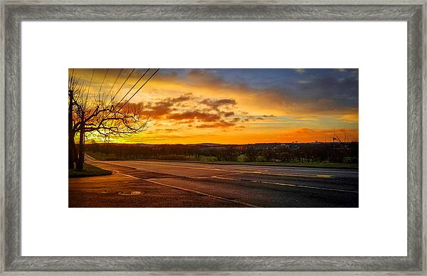 Broadway Sunrise Framed Print