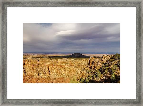 Brooding Cedar Mountain Framed Print