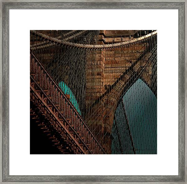 Brooklyn Bridge Of New York City Framed Print
