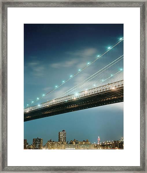 Brooklyn Bridge Framed Print by Silvia Otte
