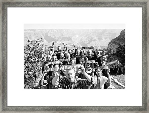 Brower Leads Protest Framed Print by Arthur Schatz