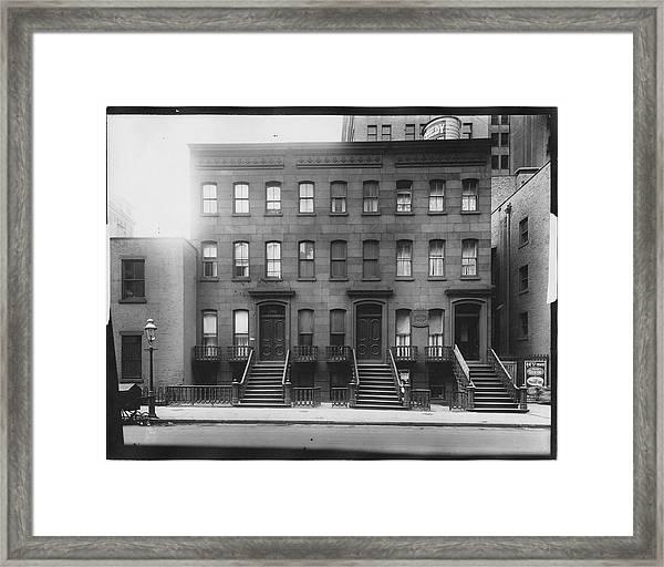 Brownstones Framed Print