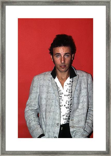 Bruce Springsteen In Detroit Framed Print