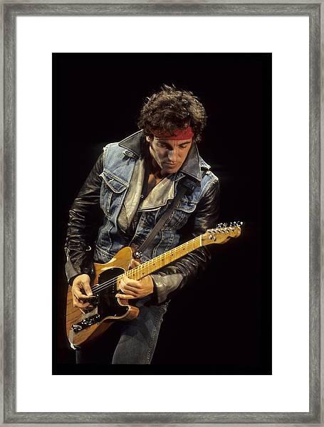 Bruce Springsteen Performs Live Framed Print