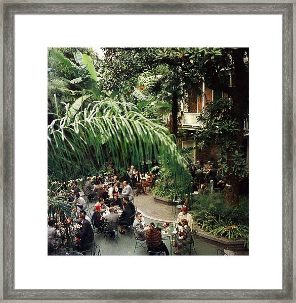 Brunch At Brennans Framed Print