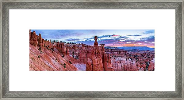 Bryce Canyon Np - Helluva Place To Lose A Cow Framed Print