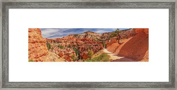 Bryce Canyon Np - Peek-a-boo Canyon Framed Print