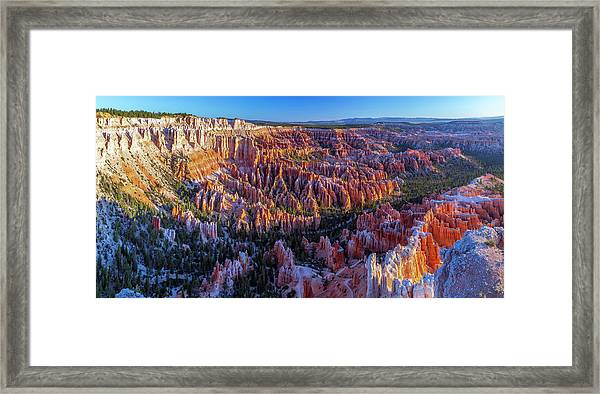Bryce Canyon Np - Sunrise On Another World Framed Print