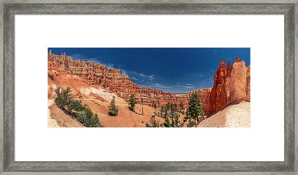 Bryce Canyon Np - Walls, Windows And Hoodoos, Oh My Framed Print