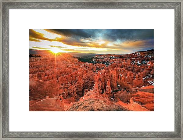 Bryce Canyon Spring Sunrise Framed Print