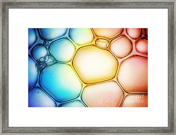 Bubble Background Framed Print