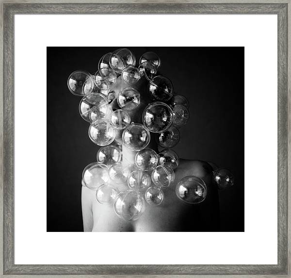 Bubble Face Framed Print