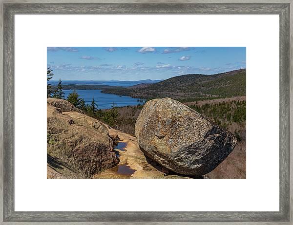 Acadia Np - Bubble Rock Framed Print